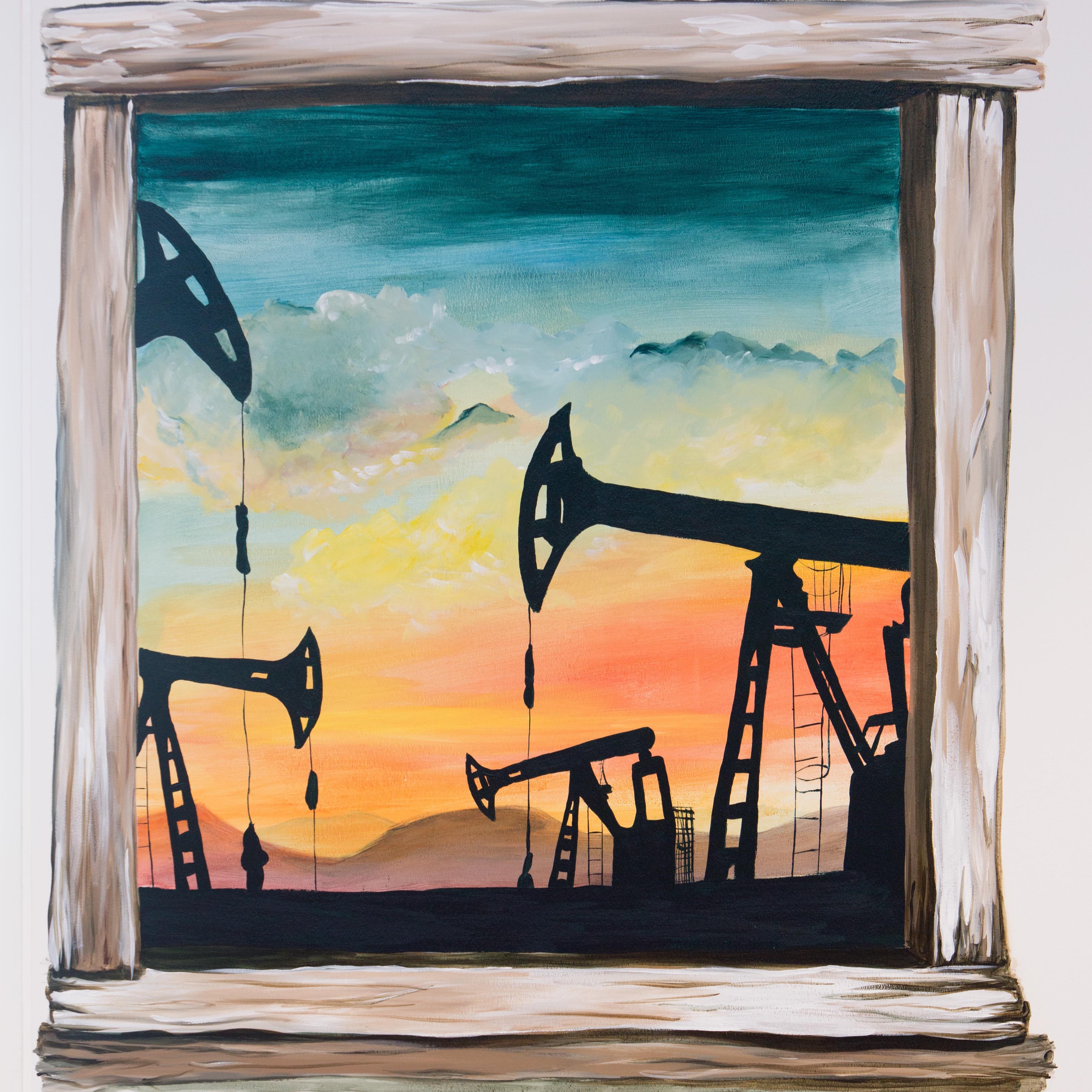 Vægmaleri, olieboringer