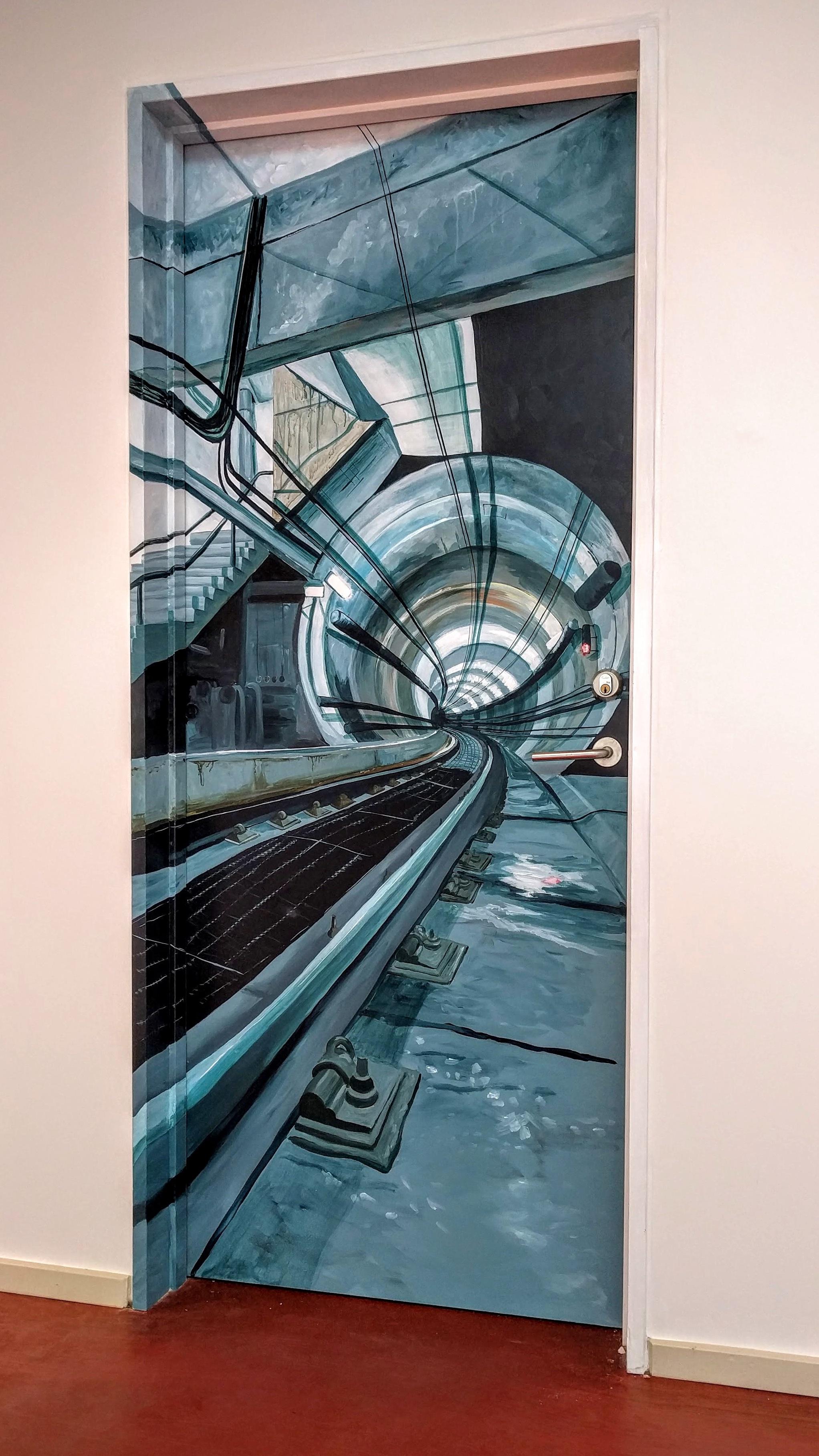Dørmaleri af undergrundsbane - det endelige resultat