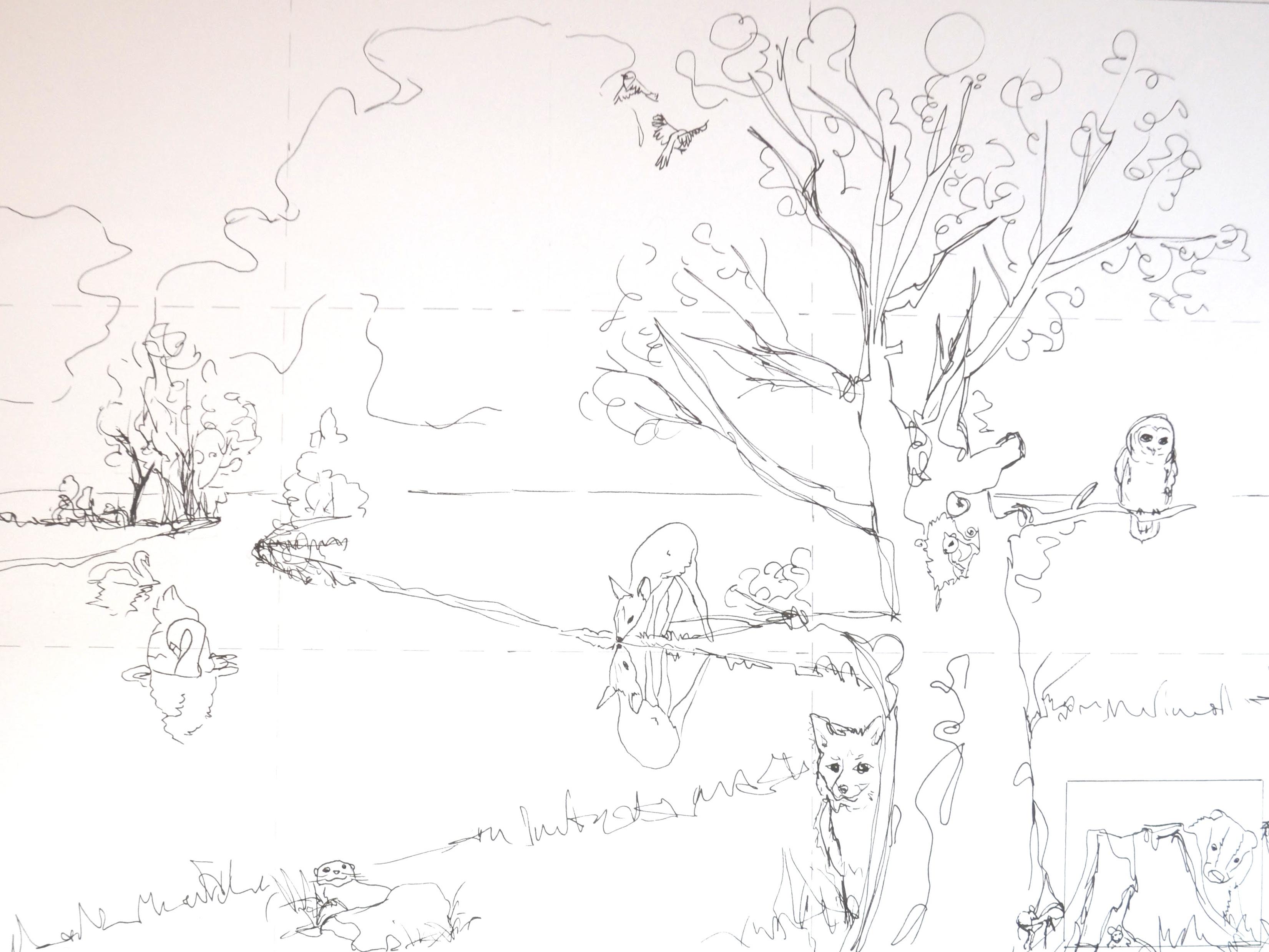 Første skridt i processen - en grov skitse