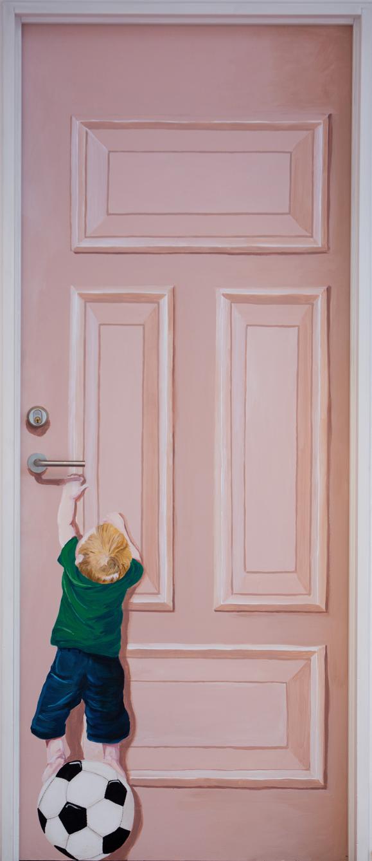 Dørmaleri, maleri på dør, fyldningsdør