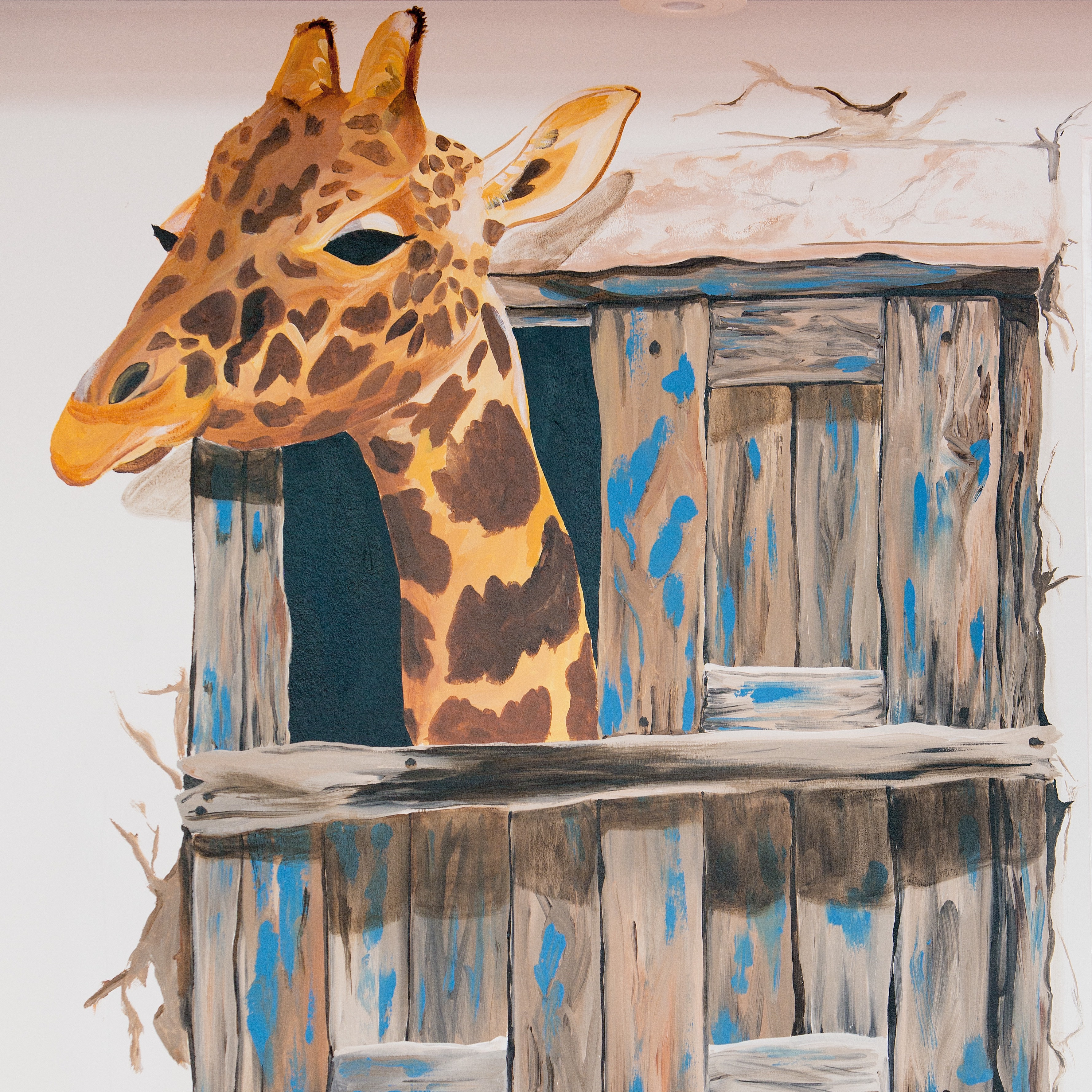 Vægmaleri, giraf