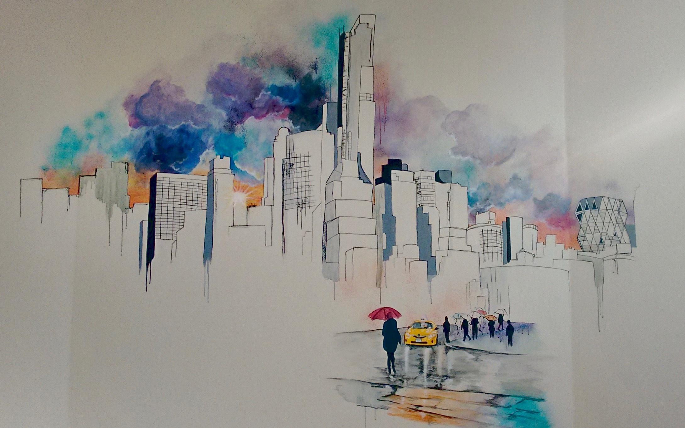 Vægmaleri, New York skyline